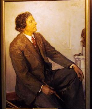 Белоусов П.П. Портрет художника И.И. Бродского Бердянского художественного музея