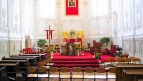 Алтарь костела Доминиканского монастыря святого Николая Каменец-Подольского
